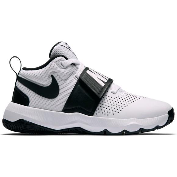 25f5e38061d Nike Team Hustle D8 Sneaker White   Black Boutique